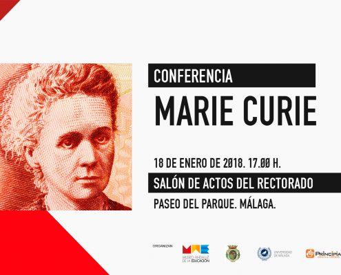 CONFERENCIA MARIE CURIE - 18-01-2018 - Salón de Actos del Rectorado, Paseo del Parque, Málaga