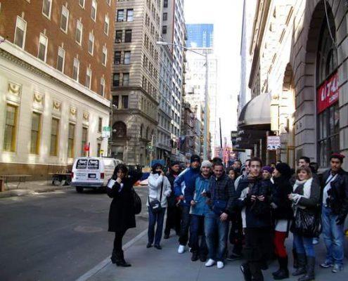 En Nueva York con sus alumnos