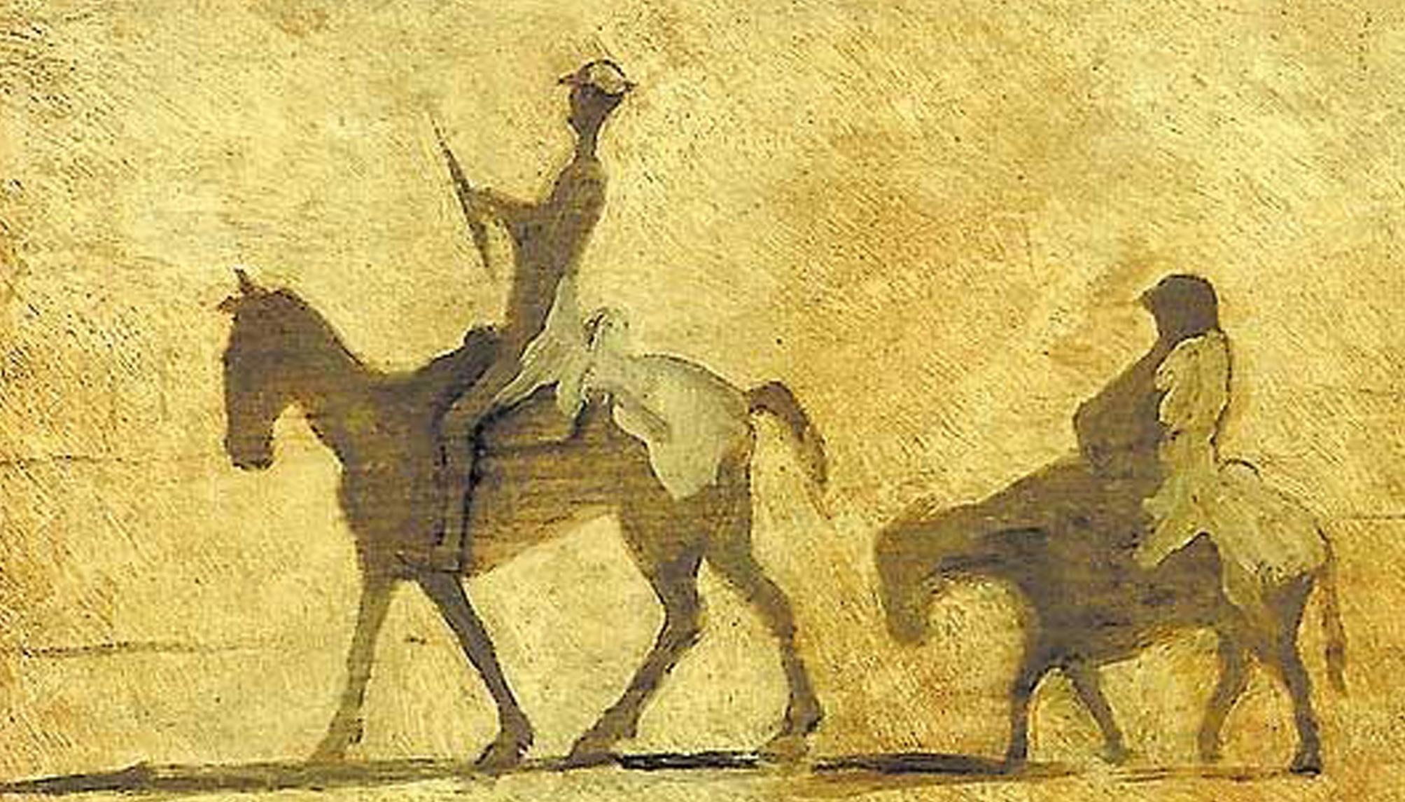 Don Quijote y Sancho, ilustrado por Honoré de Daumier.