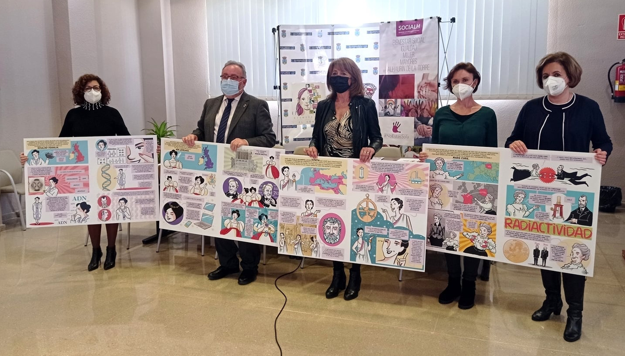 Alhaurín de la Torre celebra el Día de la Mujer en la Ciencia con una exposición