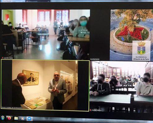 El MAE realiza su primera visita virtual al IES Aguilar y Eslava