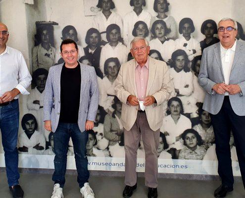 Visita de los periodistas Fernando Jáuregui y Sergio Martín