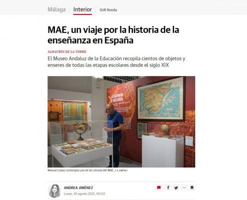 Diario SUR publica un reportaje sobre el MAE