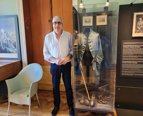 El comisario del MAE visita el Musée d'Histoire des Sciences de Ginebra